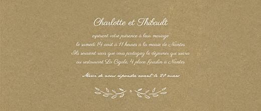Faire-part de mariage Poème (panoramique) kraft - Page 3