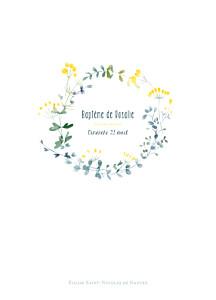 Livret de messe jaune bouquet sauvage jaune
