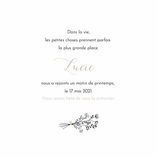 Faire-part de naissance Sieste sur l'herbe rose - Page 3