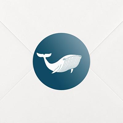 Stickers naissance baleine extraordinaire bleu