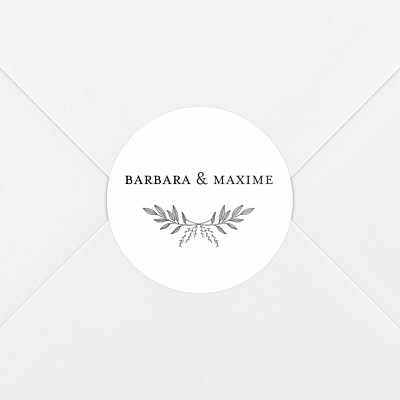 Stickers mariage psyché blanc