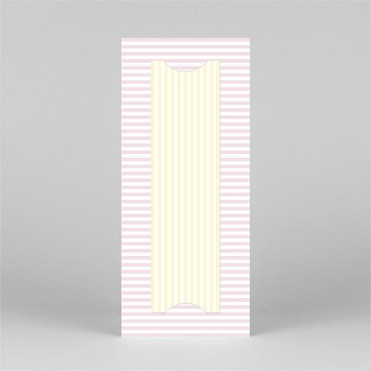 Faire-part de naissance Rayures pastel (marque-page) rose - Vue 3