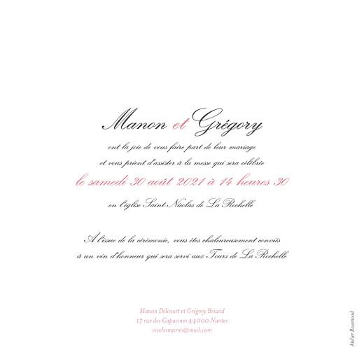 Faire-part de mariage Gourmand raffiné rose - Page 2