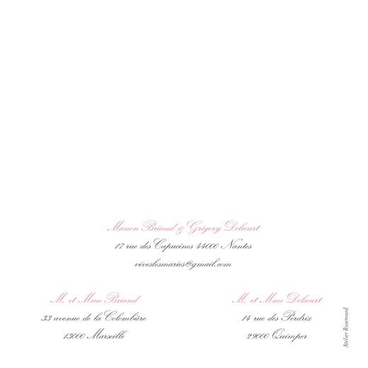 Faire-part de mariage Gourmand raffiné (4 pages) rose - Page 4