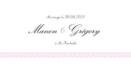 Marque-place mariage Gourmand raffiné rose - Page 4