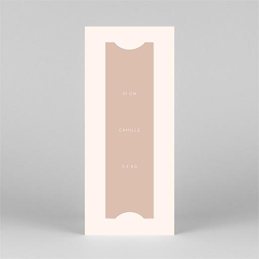 Faire-part de naissance Elégant cœur (marque-page) rose - Vue 3