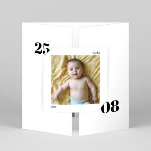 Faire-part de naissance Intemporel (fenêtre) blanc