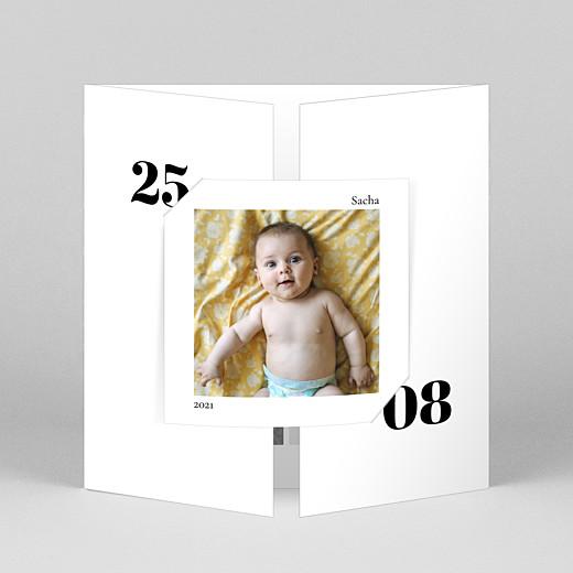 Faire-part de naissance Intemporel (fenêtre) blanc - Vue 1
