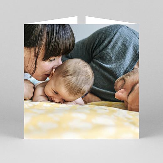 Faire-part de naissance Intemporel (fenêtre) blanc - Vue 3