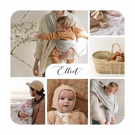 Faire-part de naissance Tendre innocence (photos) blanc