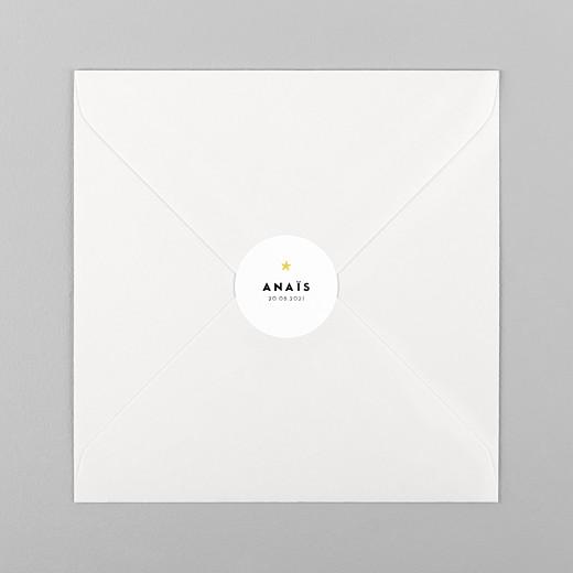 Stickers Naissance Rayures pastel blanc - Vue 1