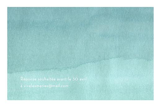 Carton d'invitation mariage Aquarelle turquoise - Page 2