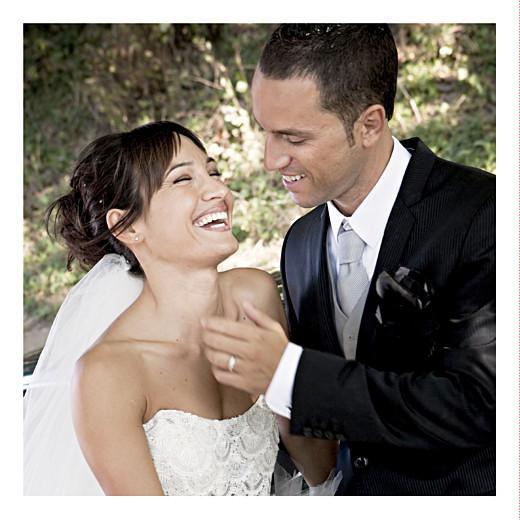 Carte de remerciement mariage Aquarelle ocre - Page 2