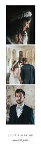 Carte de remerciement mariage Joli brin (marque-page) bis blanc
