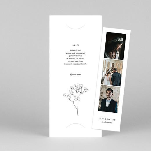 Carte de remerciement mariage Joli brin (marque-page) blanc - Vue 1