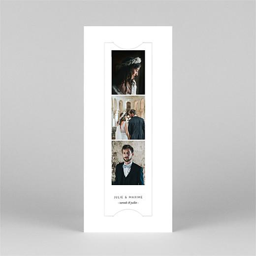 Carte de remerciement mariage Joli brin (marque-page) blanc - Vue 2