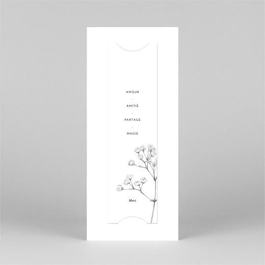 Carte de remerciement mariage Joli brin (marque-page) blanc - Vue 3