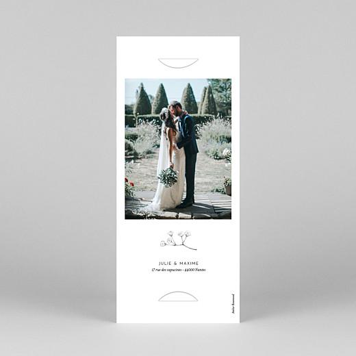 Carte de remerciement mariage Joli brin (marque-page) blanc - Vue 4