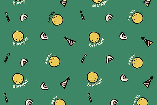 Carte d'anniversaire Happy by mathilde cabanas vert