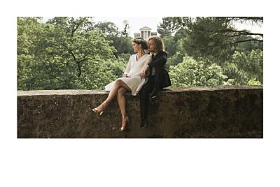 Carte de remerciement mariage Simple 1 photo paysage (dorure) blanc finition