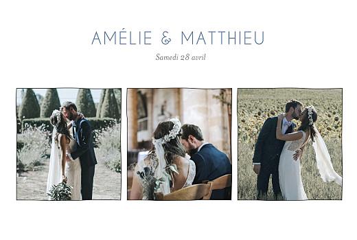 Carte de remerciement mariage Promesse sur le sable (3 photos) blanc