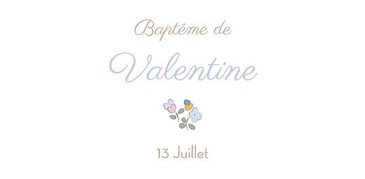 Marque-place Baptême Jardin fleuri bleuet - Page 4