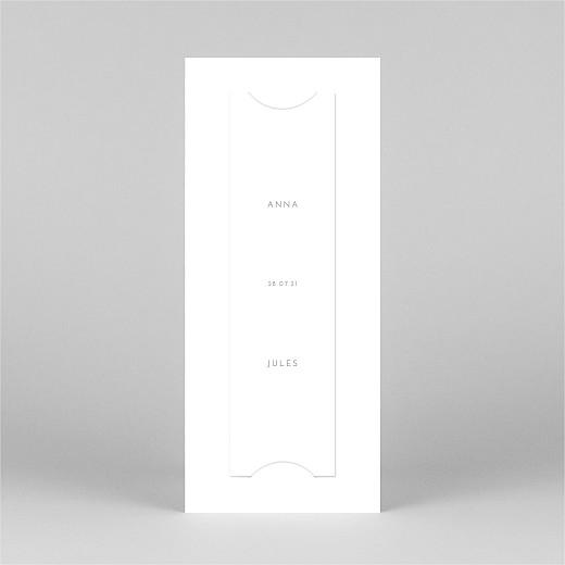 Save the Date Elégant cœur (marque-page) blanc - Vue 3