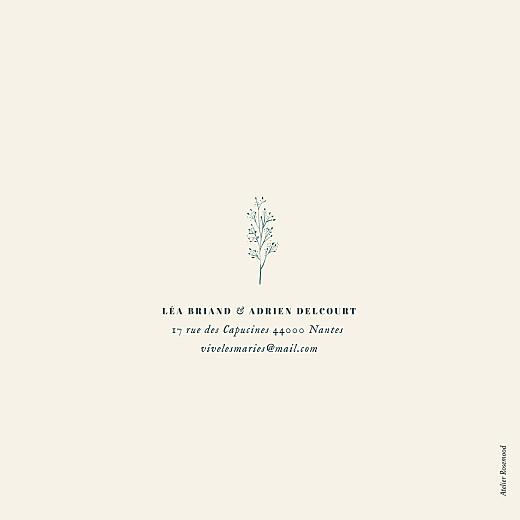 Faire-part de mariage Herbier (4 pages) beige - Page 4