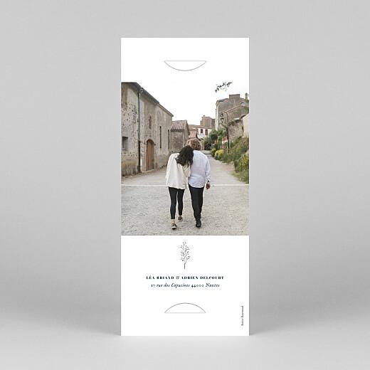Faire-part de mariage Herbier (marque-page) blanc - Vue 4