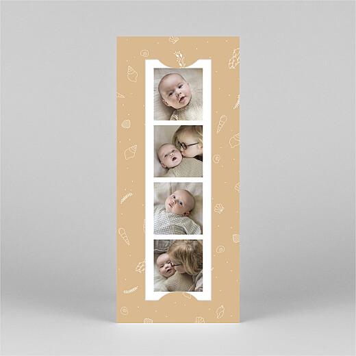 Faire-part de naissance Élégant coquillage (marque-page) sable - Vue 2