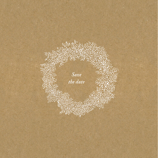 Save the Date Gypsophile kraft