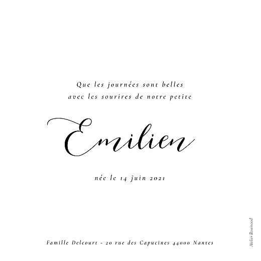 Faire-part de naissance Calligraphie blanc - Page 2