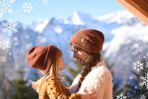Carte de voeux Merveilles d'hiver paysage bleu