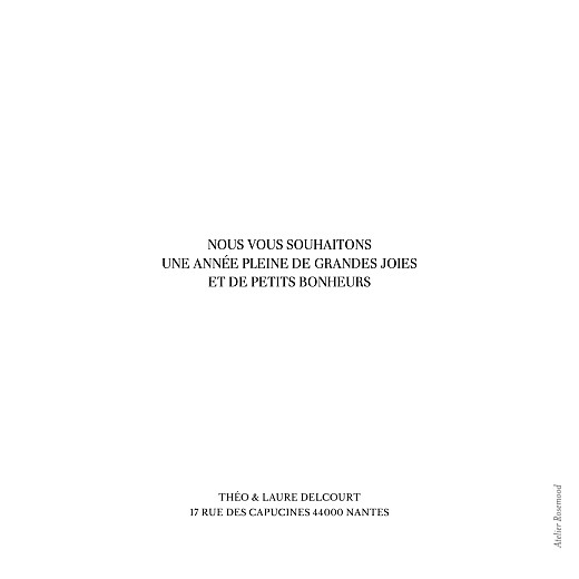 Carte de voeux Moderne chic blanc - Page 2
