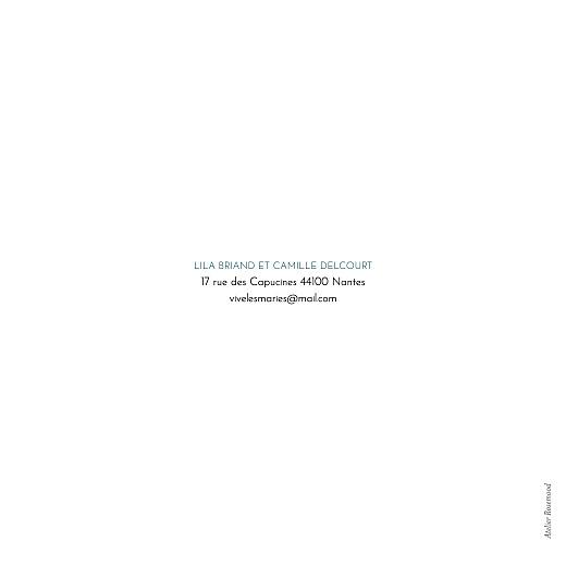 Faire-part de mariage Botanique bleu - Page 4