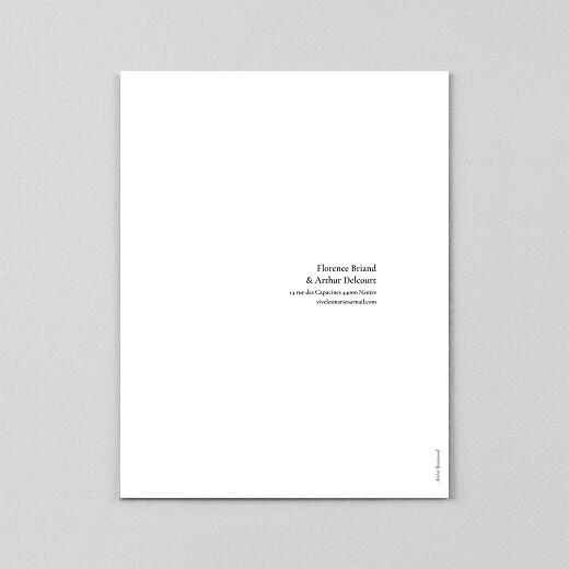 Faire-part de mariage Sobre portrait (calque) blanc - Vue 3
