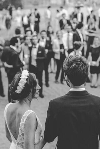 Carte de remerciement mariage Empreinte blanc