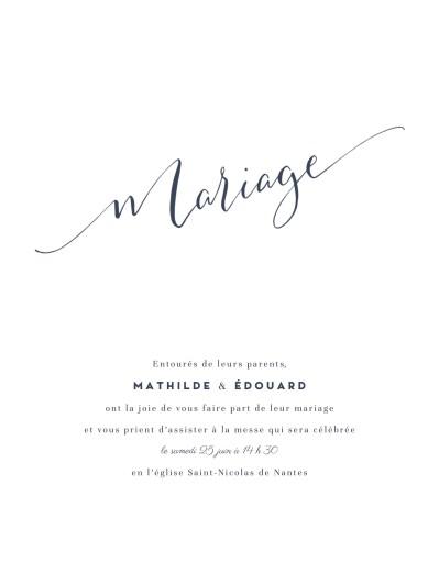 Faire-part de mariage Swing (portrait) blanc
