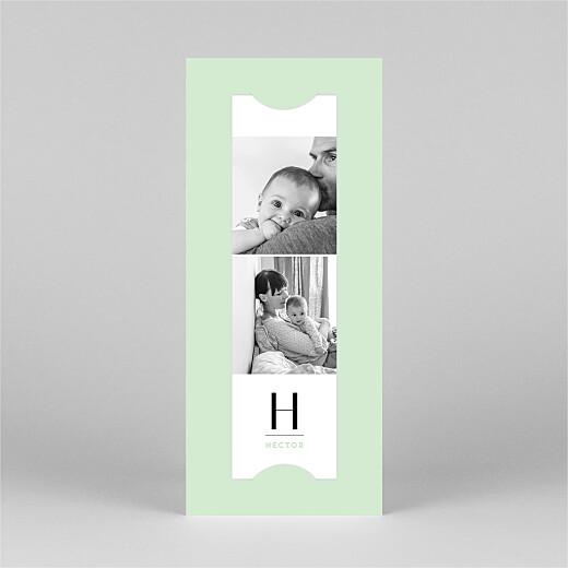 Faire-part de naissance Trait de caractère (marque-page) vert - Vue 2
