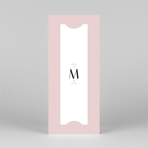 Faire-part de naissance Trait de caractère (marque-page) rose - Vue 3