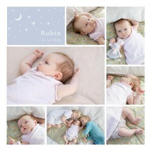 Faire-part de naissance Sous les étoiles bleu