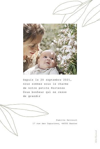 Faire-part de naissance Saison vert - Page 2