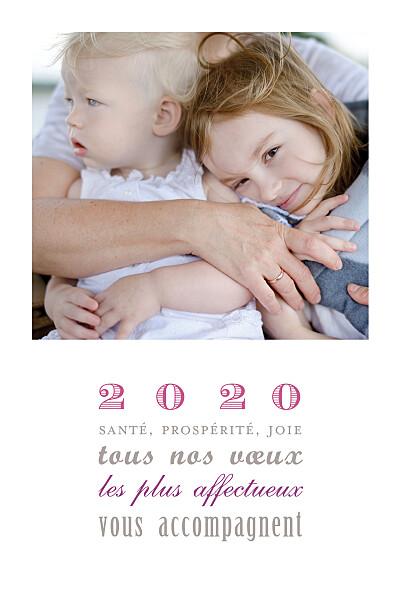 Carte de voeux Le plus beau jour (4 photos) blanc finition