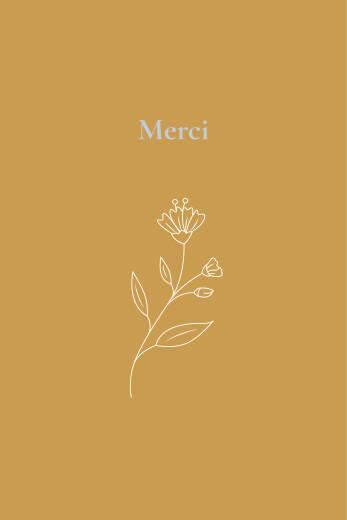Carte de remerciement Blason floral jaune