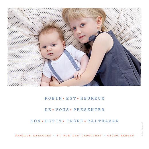 Faire-part de naissance Marinière photo bleu - Page 2
