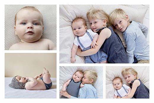 Faire-part de naissance Son prénom (5 photos) bleu nuit - Page 2