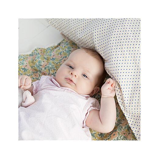 Faire-part de naissance Wax flower photo 4p indigo - Page 2