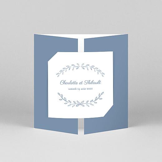 Faire-part de mariage Poème (fenêtre) bleu - Vue 1