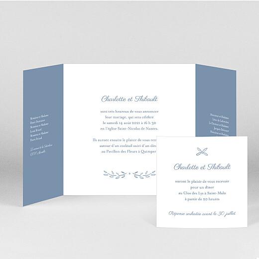 Faire-part de mariage Poème (fenêtre) bleu - Vue 2