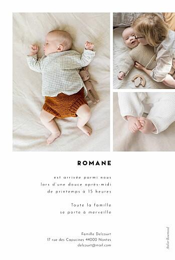 Faire-part de naissance Cartouche blanc - Page 2